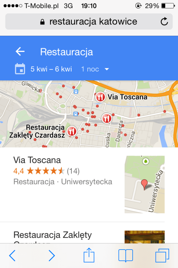 restauracja lista
