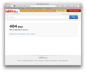 Nakarm psa - błąd 404