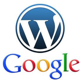 logo Wordpress i Google