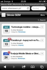 Silesia SEM - wersja mobilna