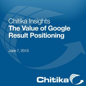 Wartość pozycji w wynikach Google - Chitika 2013