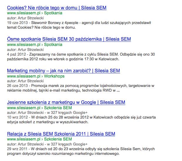 Menu nawigacyjne w WordPress w Google