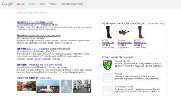 Porównanie cen produktów w Google Zakupy