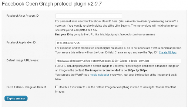 Facebook Open Graph Protocol plugin