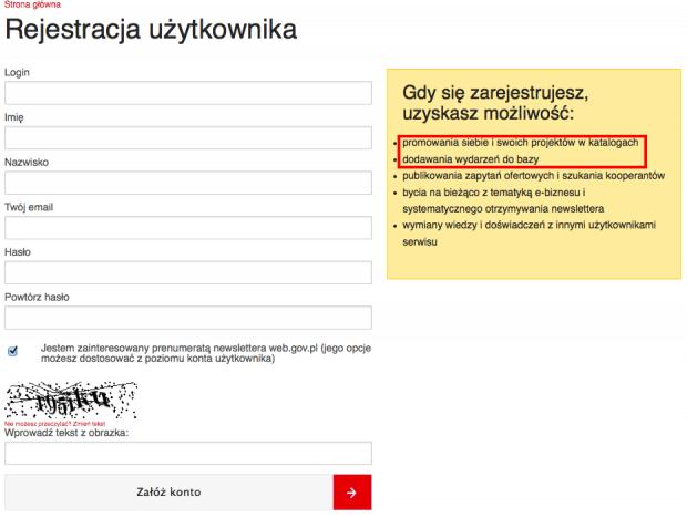 Rejestracja na web.gov.pl