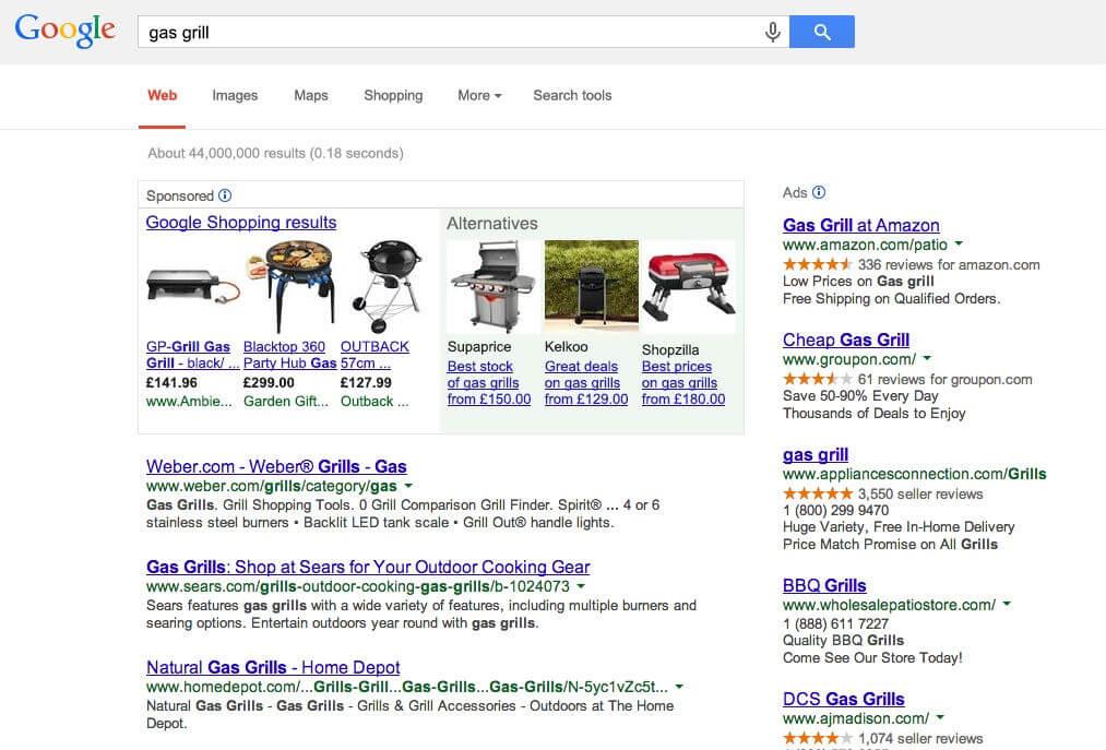 Zakupy Google + rywale