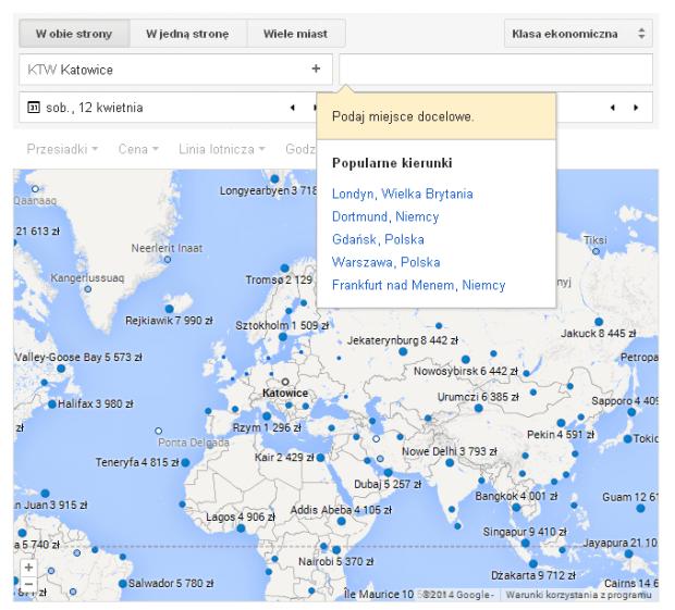 Loty w Google