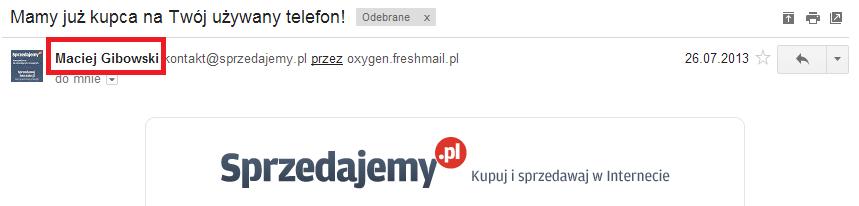 Newsletter Sprzedajemy.pl