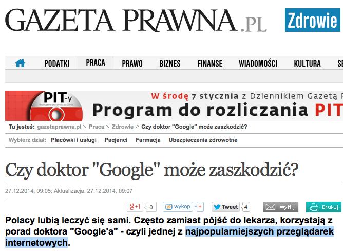 Gazeta Prawna Przeglądarka Google