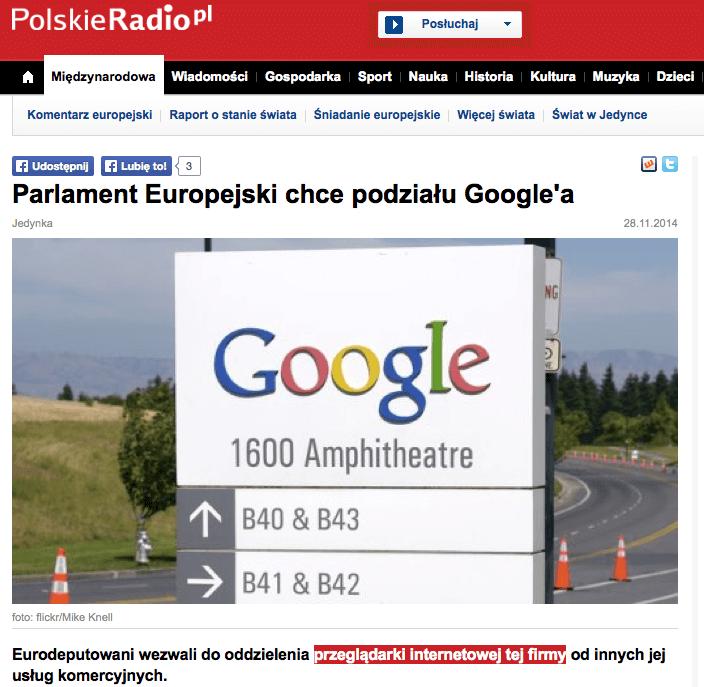 Polskie Radio Przeglądarka Google
