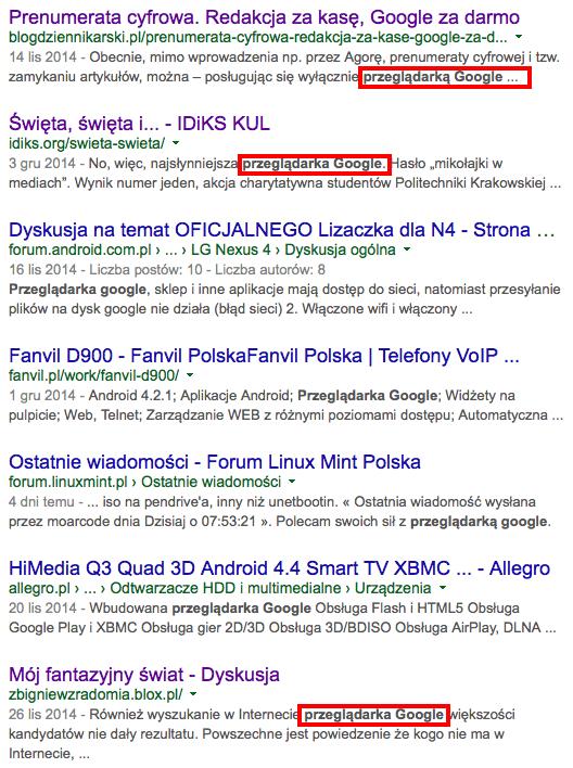 Przeglądarka Google
