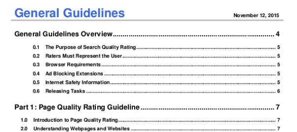 Google Search Quality Evaluator Guidelines 2015