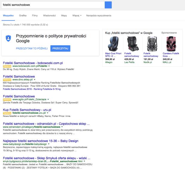 4 reklamy adwords w Google