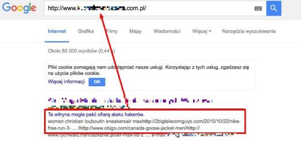 Ta witryna mogła paść ofiarą ataku hakerów