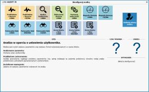 Clusteric konfiguracja analizy
