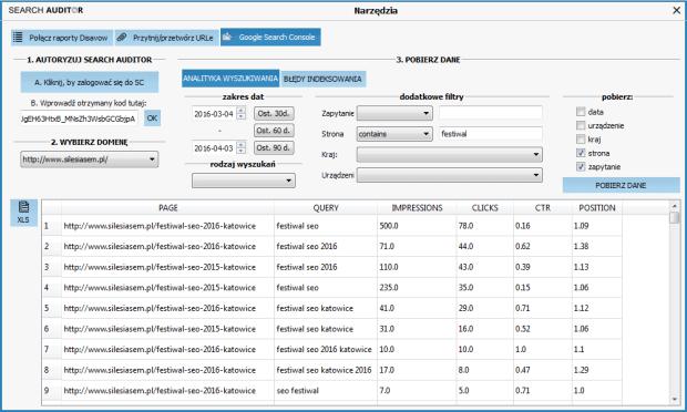 Clusteric Search Auditor Analityka wyszukiwania