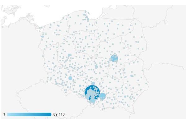 Dane geograficzne
