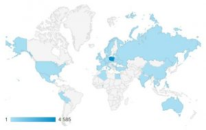 Google Analytics Dane geograficzne
